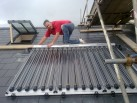 Mark Todd oversees the final stage of a Solar panel installation 2
