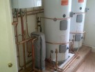 Hot water and heating installation
